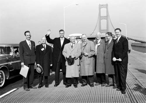Opening of the Mackinac Bridge