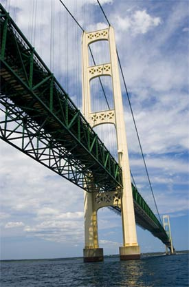 Under the Mackinac Bridge