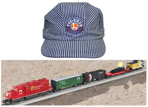 Lionel Train and Engineer Cap