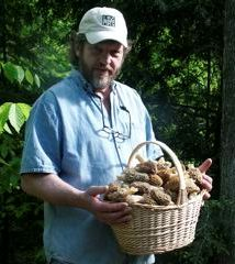 Tony Williams with Morel Mushrooms
