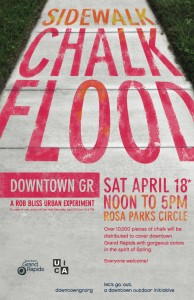Grand Rapids Sidewalk Chalk Flood