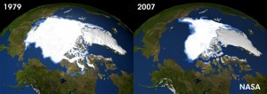 Arctic Ice Melt - 1979 to 2007