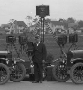 Russell C. Leavenworth, With Cameras, Circa 1920s