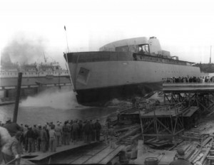 Launch, September 6, 1952 at Sturgeon Bay, Wisconsin
