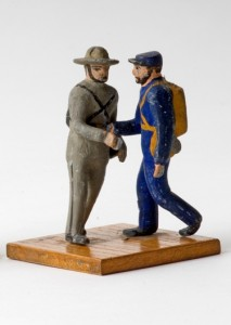 This toy, made in the 1930s or early 1940s by WPA workers, depicts two Civil War soldiers. Photo by David Kenyon, Michigan Department of Natural Resources and Environment.