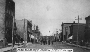 Ashmun Street in 1888 courtesy Seeking Michigan
