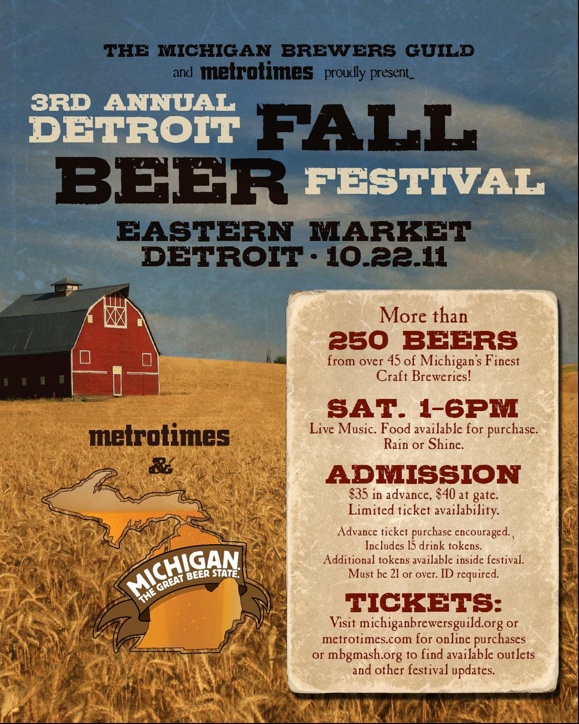 Beer week and the detroit fall beer festival absolute for Michigan craft beer festival