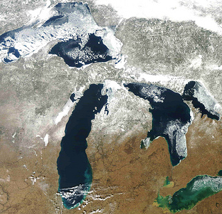March 2012 Ice on the Great Lakes (NOAA)
