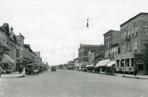 Mitchell Street in Cadillac, circa 1915