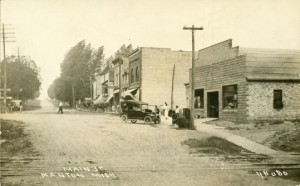 Main Street in Manton, circa 1915
